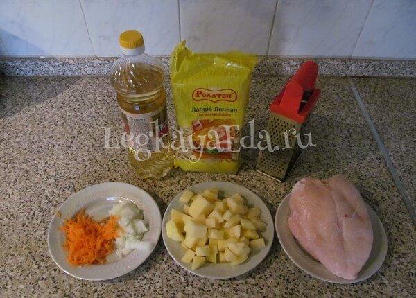суп лапша с курицей рецепт пошагово с фото