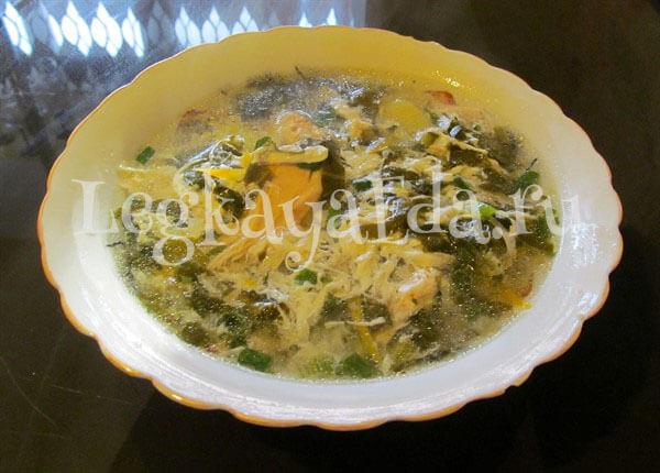 суп из щавеля с яйцом рецепт с фото классический