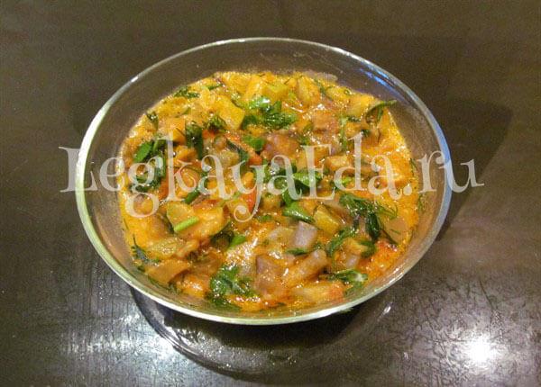 овощное рагу с кабачками и баклажанами рецепт с фото