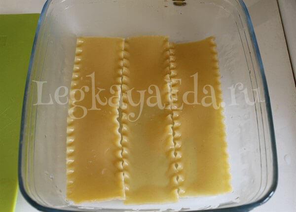 рецепт лазаньи с фаршем с фото пошагово