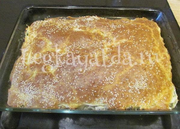 пирог с капустой рецепт с фото пошагово в духовке