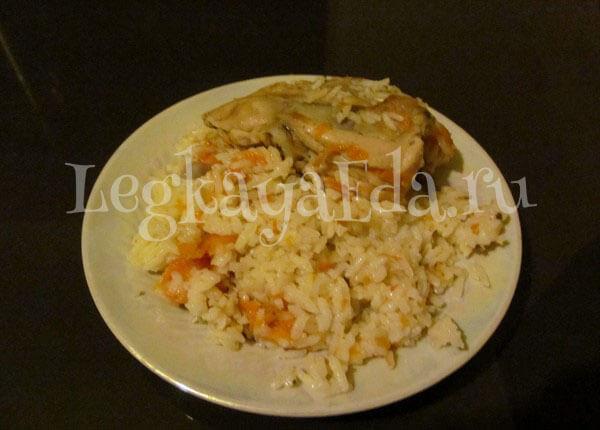 плов из курицы на сковороде рецепт