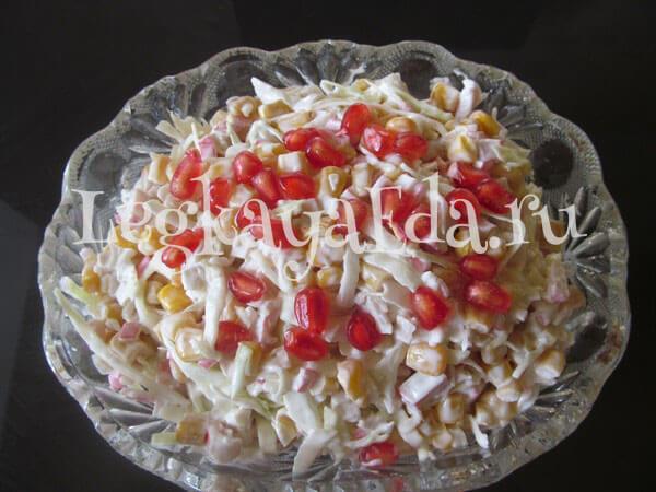 Классический салат с крабовым мясом рецепт с