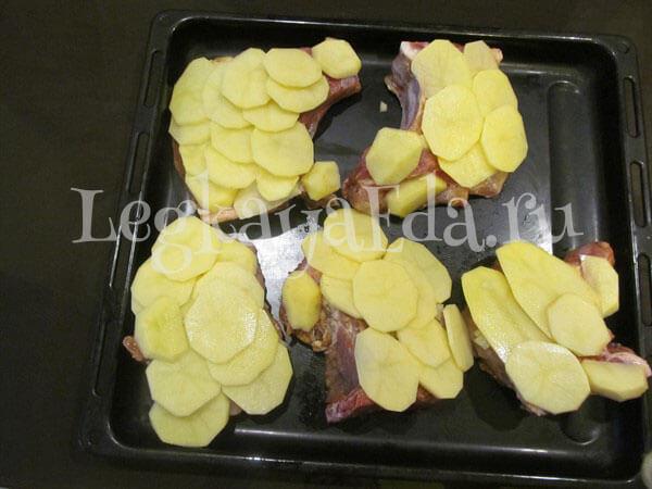как приготовить мясо по-французски с картошкой в духовке
