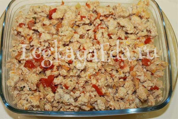 макаронная запеканка с фаршем в духовке рецепт с фото