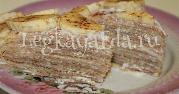 Блинный торт: рецепт с фото пошагово в домашних условиях