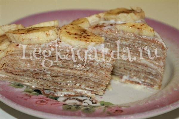 блинный торт рецепт с фото пошагово в домашних условиях с творогом