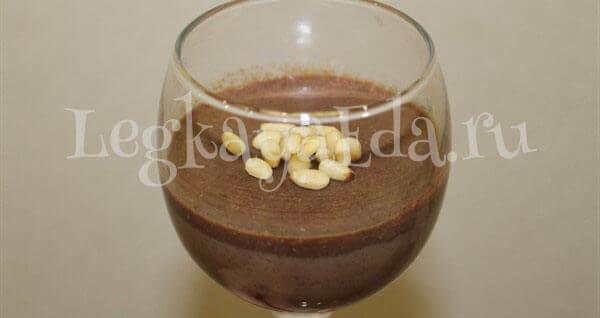шоколадный мусс рецепт с фото