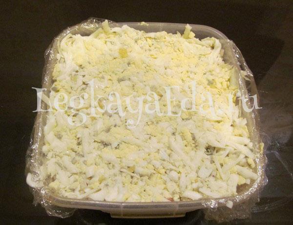 салат грибная поляна с шампиньонами рецепт с фото