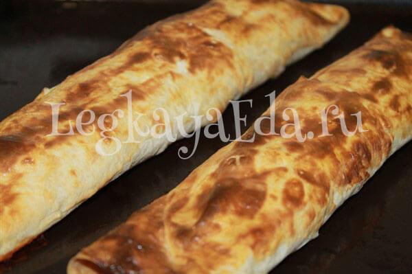 пирог из лаваша с фаршем в духовке рецепты с фото