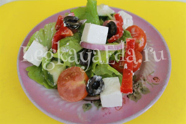 салат из сыра фетакса рецепты с фото