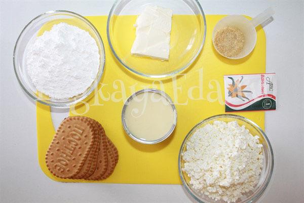 чизкейк без выпечки с творогом и печеньем рецепт с фото с желатином