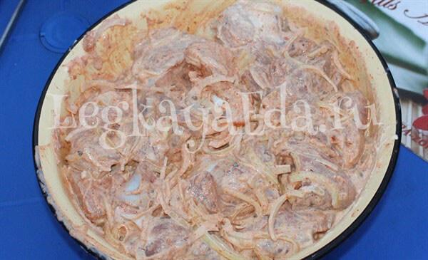 маринад для шашлыка из свинины с майонезом и луком
