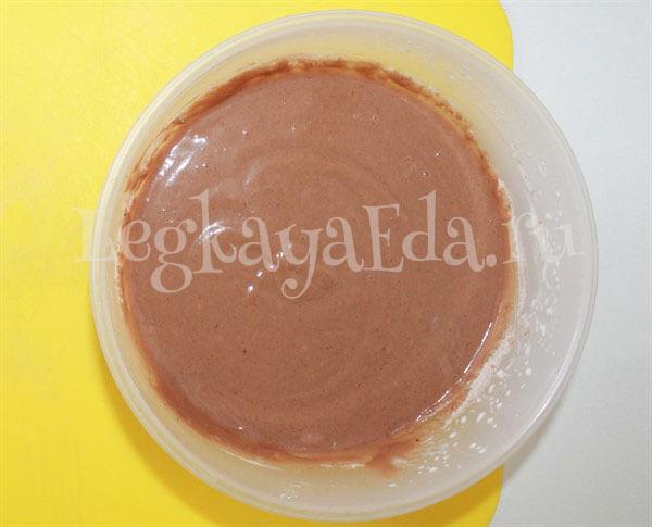 кекс шоколадный тесто простой рецепт