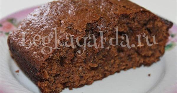 рецепт шоколадного кекса в духовке