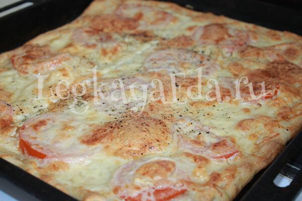 Рецепт теста для пиццы в духовке в домашних условиях на дрожжах