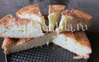 Заливной пирог с капустой на кефире и сметане в духовке быстро и вкусно