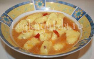 Картофельные ньокки в томатном соусе по классическому рецепту