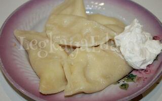 Вареники с картошкой и луком, а также простой рецепт теста на молоке без яиц