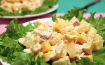 Салат курица с ананасом — классические рецепты очень вкусных салатов