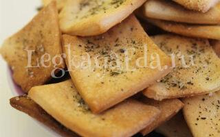 Постное печенье на рассоле от огурцов в духовке на скорую руку