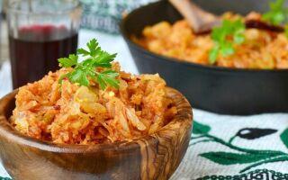 Тушеная капуста — 10 очень вкусных рецептов