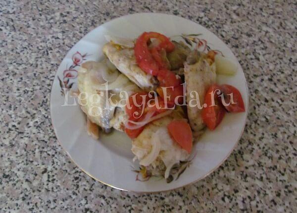 курица запеченная с овощами в духовке рецепт с фото