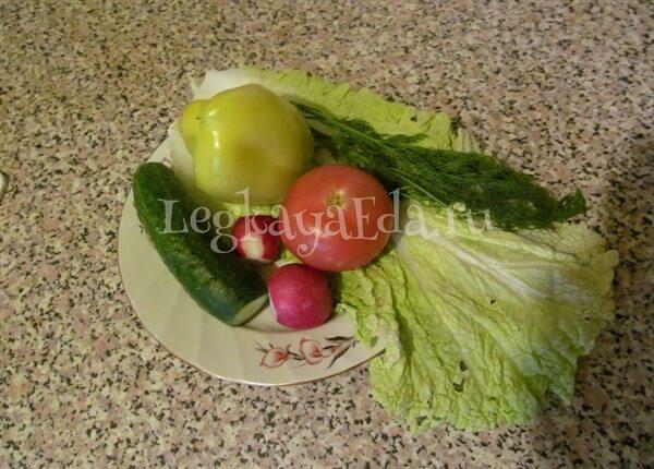 рецепты летних салатов с фото простые и вкусные