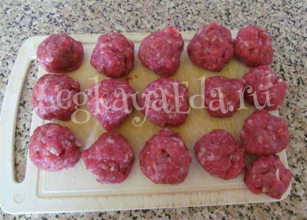 блюда из фарша мясного рецепты с фото на скорую руку
