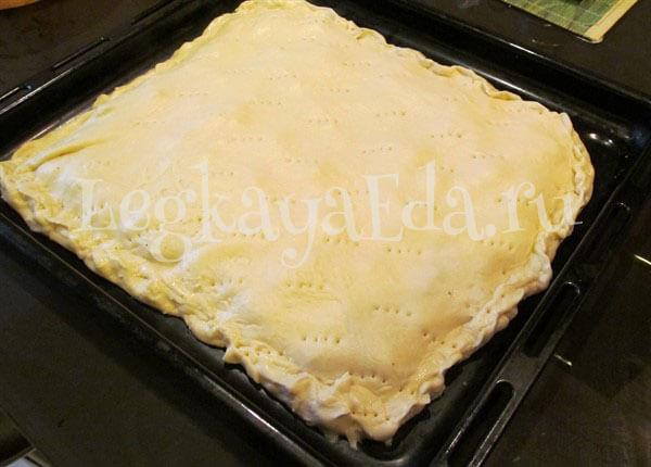 пирог с фаршем в духовке пошаговый рецепт с фото