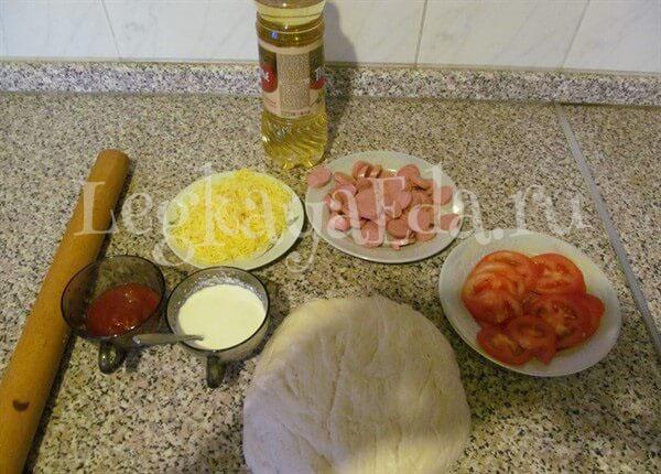 пицца быстро и вкусно рецепт в духовке пошаговый рецепт