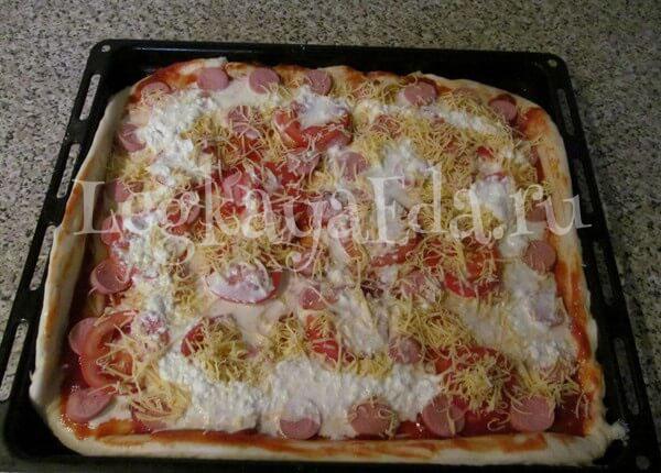 простой рецепт пиццы в духовке в домашних условиях