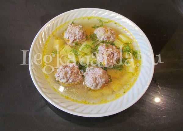суп с фрикадельками и вермишелью пошаговый рецепт с фото