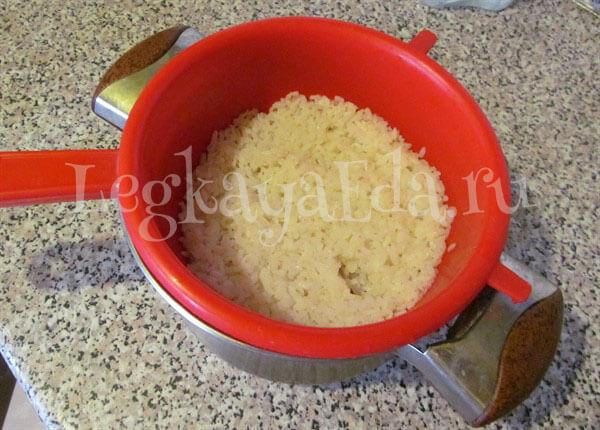 как правильно сварить рис на гарнир чтобы он был рассыпчатым