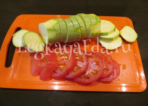 кабачки запеченные в духовке с помидорами