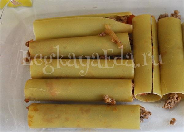 фаршированные макароны трубочки с фаршем в духовке рецепт с фото