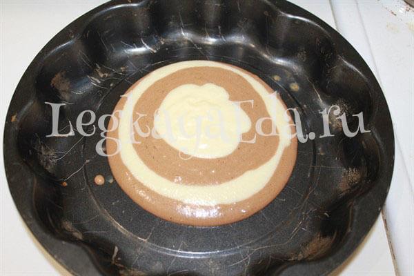зебра торт на сметане простой рецепт