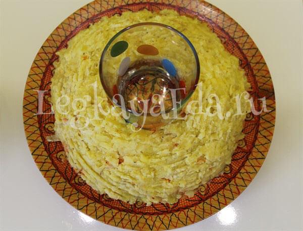 салат гранатовый браслет пошаговый рецепт с фото