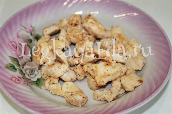 паста с курицей в сливочном соусе рецепт