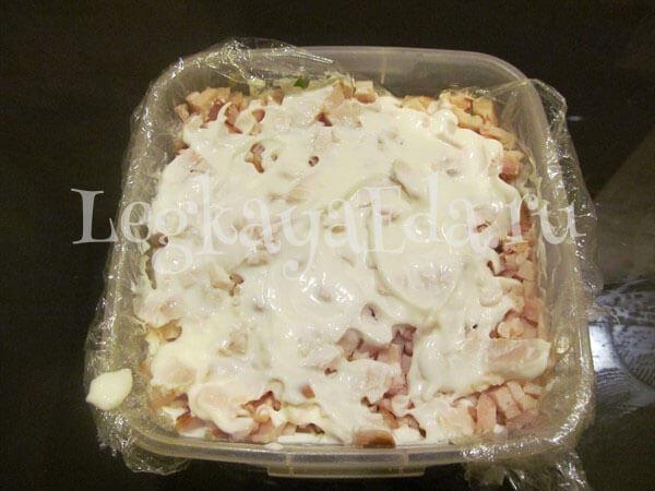 салат из копченой курицы рецепт с фото очень вкусный