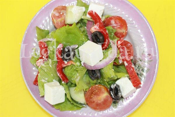 рецепт греческого салата с сыром фета