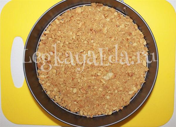 чизкейк без выпечки с творогом и печеньем рецепт с фото