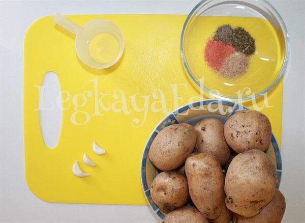 картофель по деревенски в духовке рецепт с фото