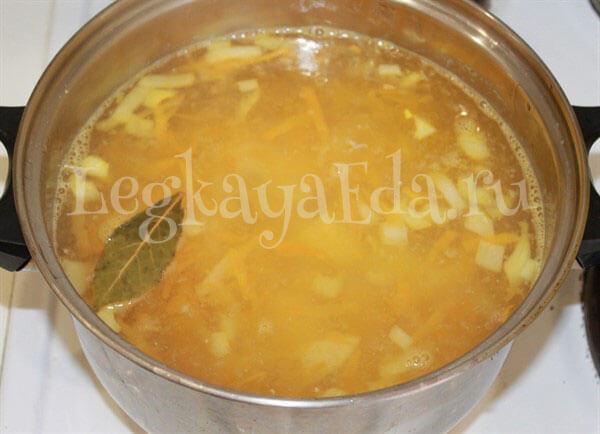 какой суп сварить на курином бульоне