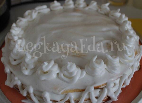 белково заварной крем для украшения торта