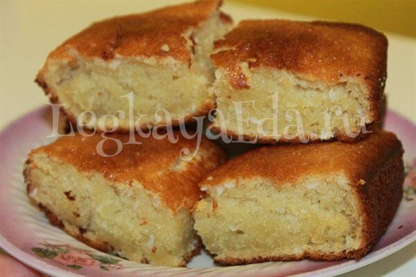 кекс на кефире в духовке рецепт с фото