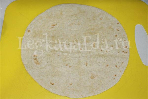тортилья с начинкой рецепт с фото