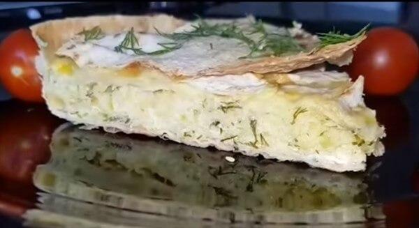 Пирог из тонкого лаваша
