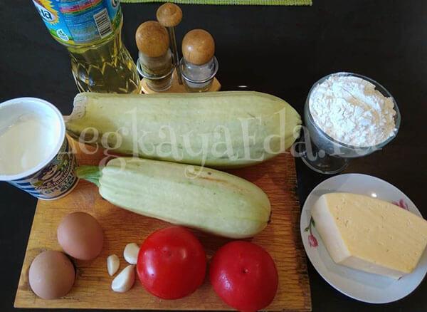 Овощной пирог Полосатик с кабачками и морковью рецепт с фото пошагово
