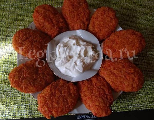 постные морковные котлеты с манкой